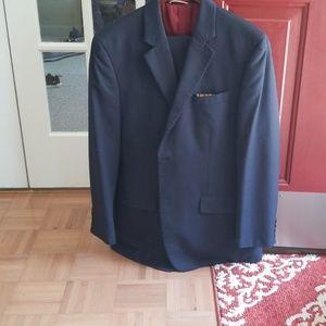 Michael Kors Men's Blue Pinstripe Suit
